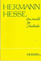 Hermann Hesse. Eine Auswahl für Ausländer.